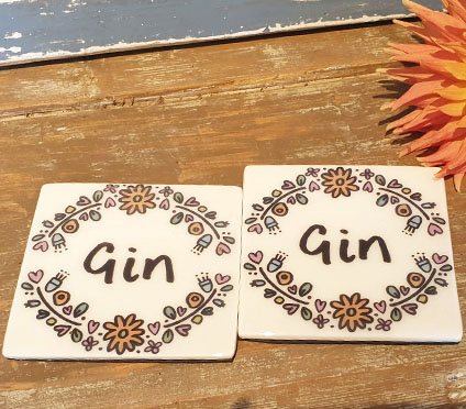 *OFFER* Gin Coaster x2