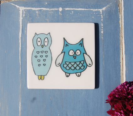 Blue Owls Coaster